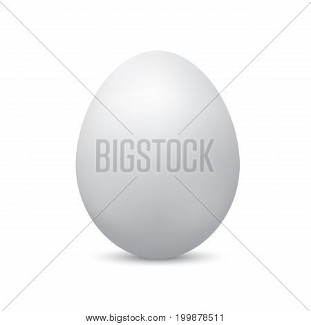 Realistic egg isolated on white background. Easter vector illustration.