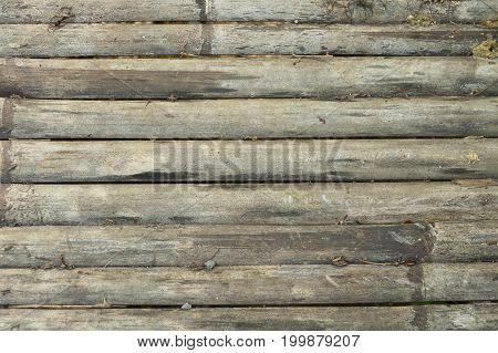close up of old bamboo litter texture and background