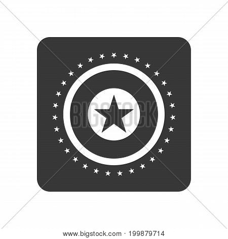 Quality control icon with star sign. Quality management pictogram isolated vector illustration.
