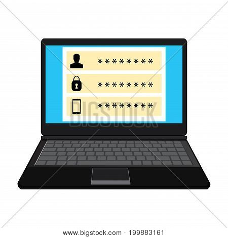Laptop Password Protected.