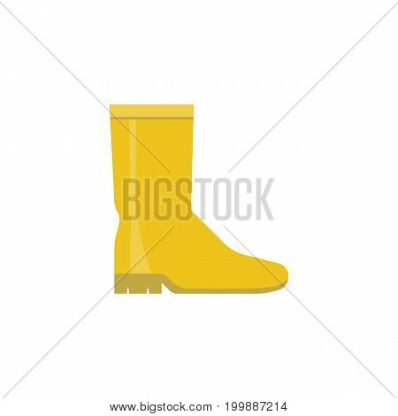 rubber boot icon, flat design isolated on white background