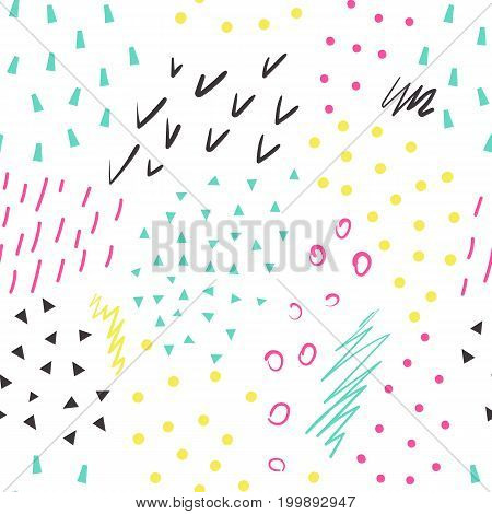 Funny summer abstract pattern. Creative illustration in trendy style