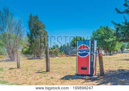 Sonoma CA - July 04: Old machine pepsi in the countryside farm