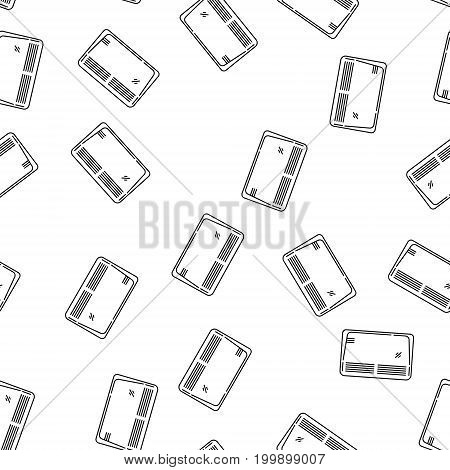 Modern Style House Heating Theme Vector Seamless Pattern. Perfect for site background, package and other endless fill.