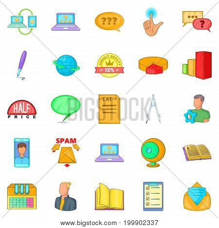 Furtherance icons set. Cartoon set of 25 furtherance vector icons for web isolated on white background
