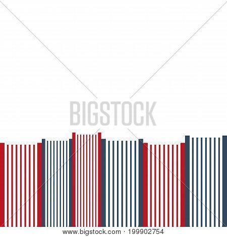 Stack Of Books Background Teplate. Vector Illustration.