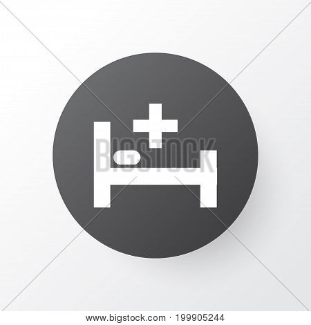 Premium Quality Isolated Tent Element In Trendy Style.  Bed Icon Symbol.