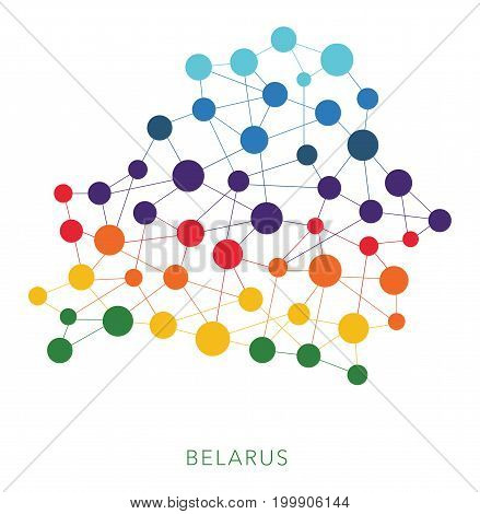 dotted texture Belarus vector rainbow colorful background