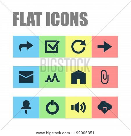 User Icons Set. Collection Of Forward, Button, Action And Other Elements