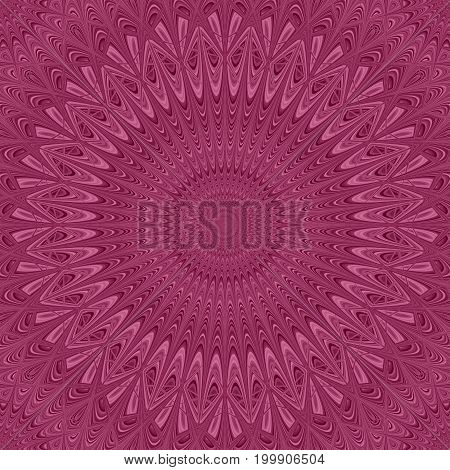 Colored mandala star ornament background - round vector pattern graphic from curved stars