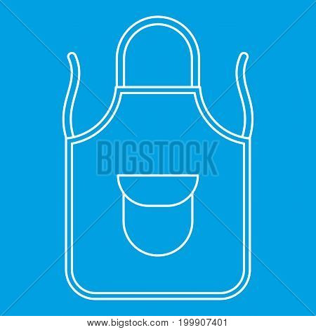 Apron icon blue outline style isolated vector illustration. Thin line sign
