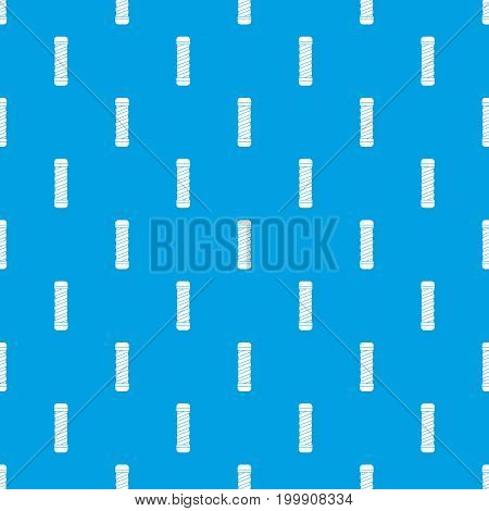 Handle for bike pattern repeat seamless in blue color for any design. Vector geometric illustration