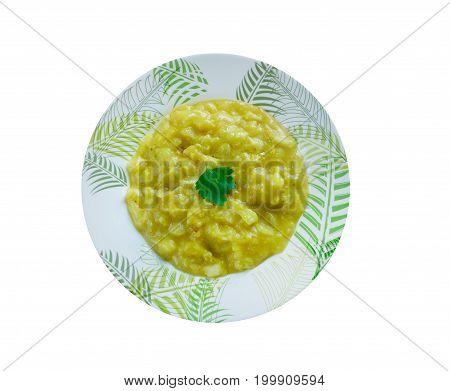 Apfelsuppe - Austrian apple soup studio close up meal