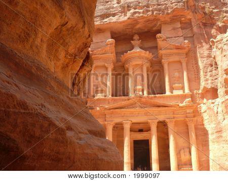 Treasury, Al-Khazneh, View From The Siq, Petra, Jordan