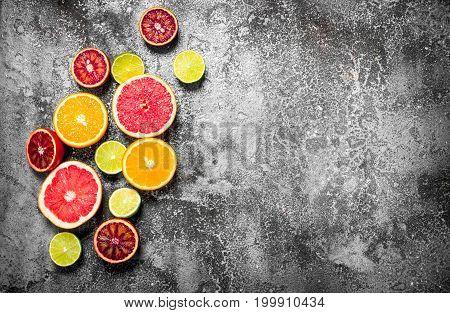 Sliced Citrus Fruit.