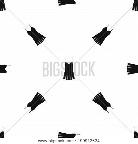 Nightdress pattern repeat seamless in black color for any design. Vector geometric illustration