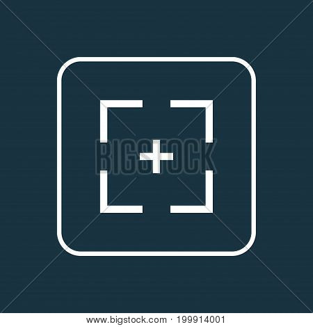 Premium Quality Isolated Target Element In Trendy Style.  Full Screen Outline Symbol.