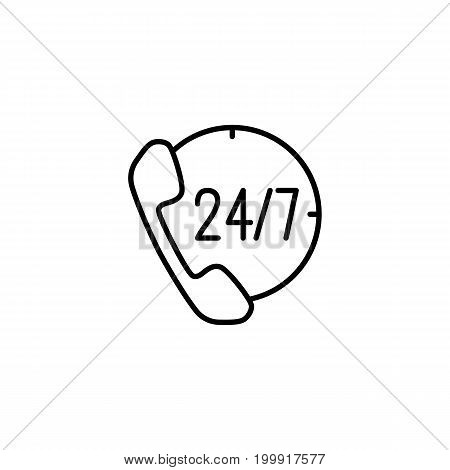 24,7 Call Center Support Vector Icon