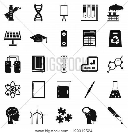 Academic degree icons set. Simple set of 25 academic degree vector icons for web isolated on white background