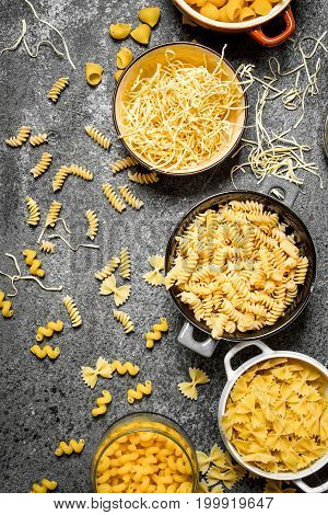 Different Types Of Pasta .