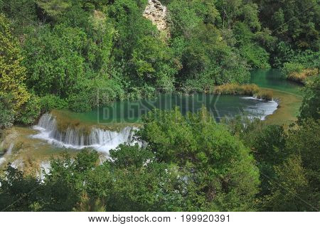 National Park KRKA Waterfall in Croatia