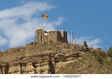 Ruins of the castle in the spain