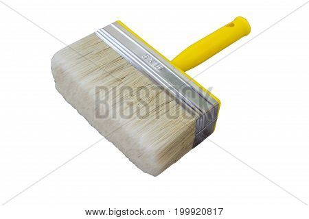 A new brush is wide for the construction of wall painting