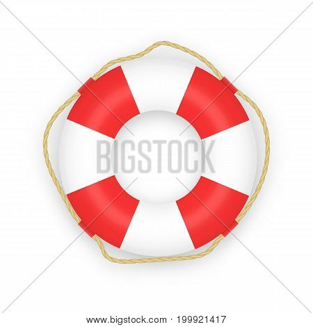 Lifebuoy on white background. Vector illustration eps10