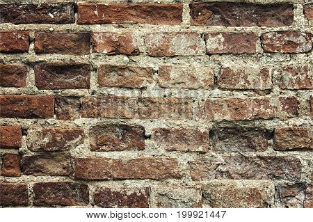 The old grunge brick wall background texture