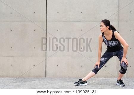 Student Before Running Training Making Warm Up