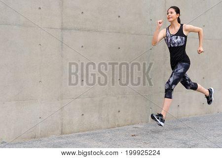Fitness Woman Doing Sport Running Training