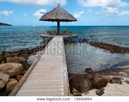 Ideal Relaxation Spot Caribbean Island