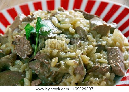 Risotto With Chicken Liver