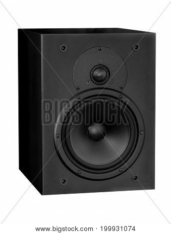 Isolated music object - loudspeaker closeup .