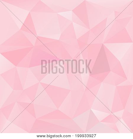 vector abstract irregular polygon background with a triangle pattern in baby pink color