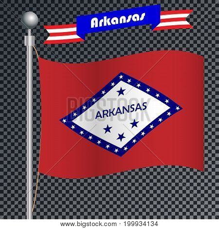 United States of America. National flag of Arkansas