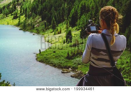 Photographer Taking Travel Nature Photography.
