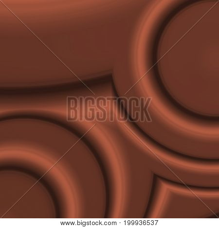 Computer generated digital fractal abstract image resembling flowing melted milk chocolate in 3d effect