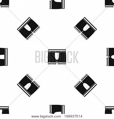 Man boxer briefs pattern repeat seamless in black color for any design. Vector geometric illustration