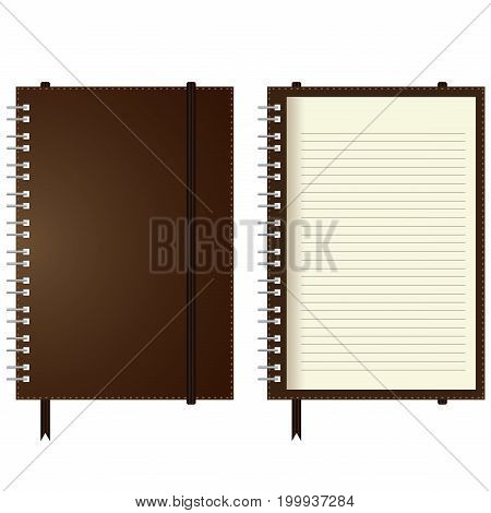 Page of ruled notebook paper isolated on white background.