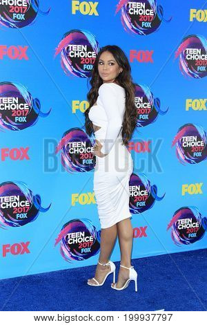 LOS ANGELES - AUG 13:  Janel Parrish at the Teen Choice Awards 2017 at the Galen Center on August 13, 2017 in Los Angeles, CA