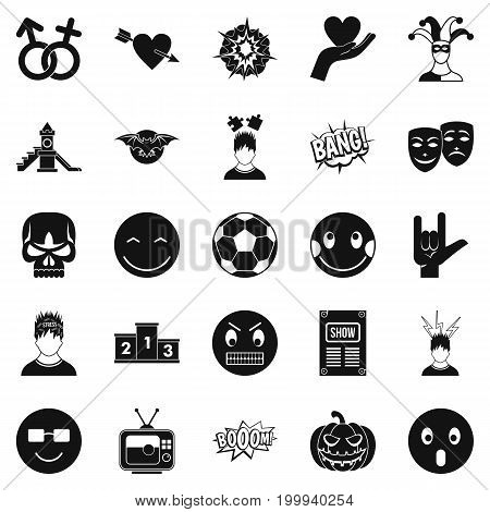 Soulful icons set. Simple set of 25 soulful vector icons for web isolated on white background