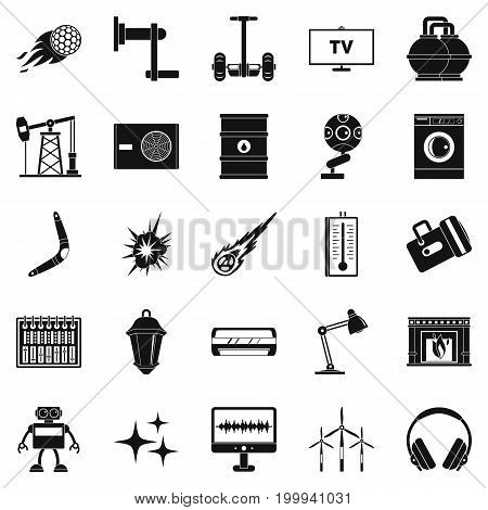 Nuclear energy icons set. Simple set of 25 nuclear energy vector icons for web isolated on white background