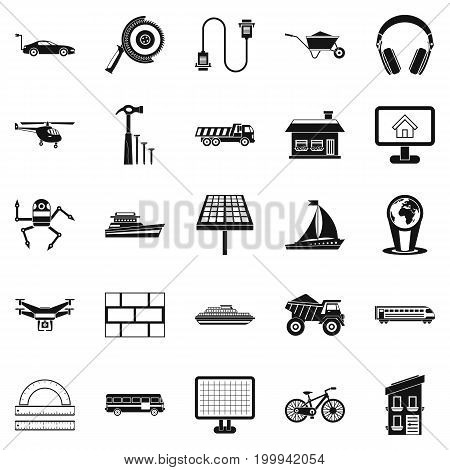 Plot icons set. Simple set of 25 plot vector icons for web isolated on white background
