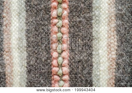 Knitting colorful wool texture background. Melange fuzzy woolen cloth texture