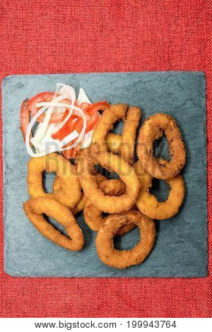 Fast food Homemade Crunchy Fried onion rings