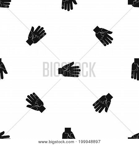 Hand with stains pattern repeat seamless in black color for any design. Vector geometric illustration