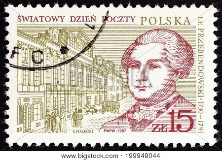 POLAND - CIRCA 1987: A stamp printed in Poland from the