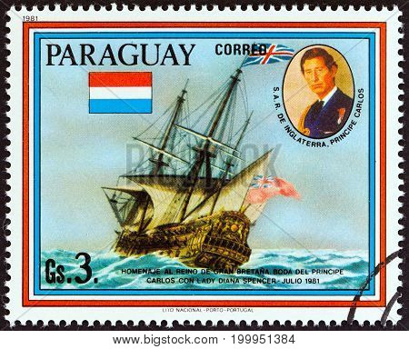 PARAGUAY - CIRCA 1981: A stamp printed in Paraguay from the