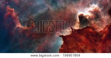 Star Birth In The Carina Nebula, Also Known As The Grand Nebula.